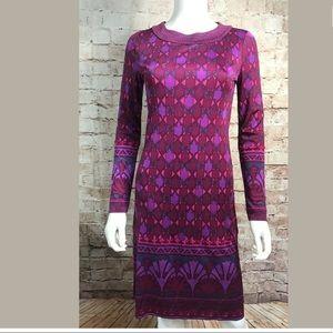 Tory Burch Dress XS Long Sleeve Purple 100% Silk